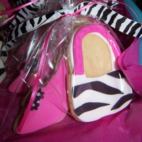 Zebra Purse And High Heel Cookies