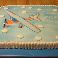 Edible Image Airplane The airplane is an edible image. Cake is for a first birthday.
