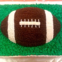 Football This cake was for the staff/coach/press room for the big Fox Seckman rival game. FOX WON!! The red cake is white with fresh strawberry...