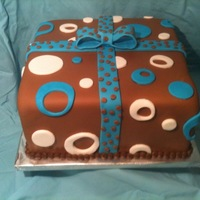 Chocolate Fondant Cake  This cake was made for a cake class. My first chocolate fondant cake. This is a 10 inch square cake (2 layers) with Oreo mousse filling and...