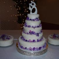 My First Wedding Cake  My stepdaughter found this cake on marthastewart.com that she wanted for her wedding. My daughter and I made it this past weekend. There...
