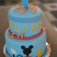 Mickey Mouse Clubhouse Cake WASC Cake with fondant and gumpaste decorations. This one was fun. It was for a 1st birthday.
