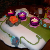 A Day At The Spa! i designed this cake for my moms birthday!