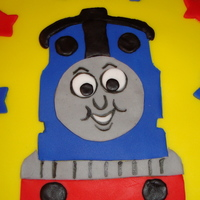 Thomas The Train Vanilla cake, vanilla buttercrean and fondant