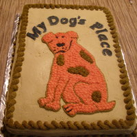 My Dogs Place This is a cake order for a local business...Marble with buttercream..