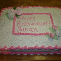 Retirement Cake Buttercrea