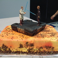 Star Wars Battle At Mustafar My son wanted the Star Wars battle on Mustafar on a cake. It was very hot and humid while I was making this, and our A/C wasn't...