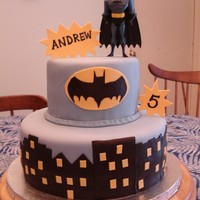 Batman Cake For my son's 5th birthday, inspired by cakes on CC.