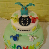 Bakugans everything is edible and made in fondant. the design is make with gun paste and fondant.