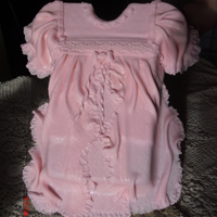 Christening Dress made with fondant