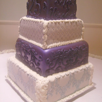 Royal Purple And White Marshmallow fondant-covered carrot and vanilla cakes. Royal purple luster dust is a mixture of violet, smoky amethyst, and midnight blue....