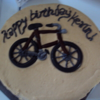 Bicycle Cake Buttercream with fondant bicycle