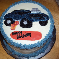 Hot Rod Car   All buttercream icing except for the silver accents and the flames which are fondant.