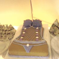 Bustier Cake this was for a friend's bridal shower