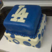 Los Angeles Dodger's Cake This was a cake that I made for my wife's birthday. She is a huge Dodgers fan and asked for a Dodgers theme.