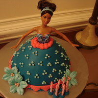 Barbie Fondant Cake I used the doll cake mold by Wilton for the dress. I had to pop the legs off of Barbie because the cake was too short, but I was able to...