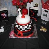 Twilight Cake For Amanda's 12Th Birthday Party This was my very first cake ever using fondant. I made it for my Twilight obsessed daughter's 12th birthday party. The bottom tier is...