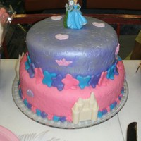 Isabella's Cinderella Birthday Cake I made this for my daughter's 4th birthday party. The bottom cake was a 4-layer chocolate cake with chocolate filling and the top cake...