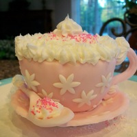 Teacup And Saucer   cup cake covered in fondant