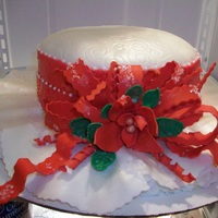 Hat Cake Around Christmas Time So Christmas Hat  Christmas hat so many people to thank so to all who responded THANKS! I think this was my 4th cake I had ever made. 8inch round and brim is...