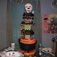 Skull Cake   This was a big cake with R/K for skull