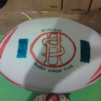 St. Helens Rugby Ball Birthday Cake
