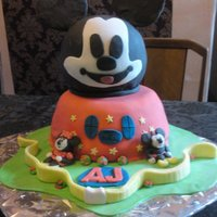 Mickey Mouse Club House this was made from a picutre someone sent me asking for the same cake, loved making it