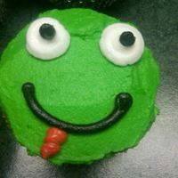Frog Intended to be a frog cupcake, my 2 year old goddaughter thought it was a turtle, guess it could be either or!