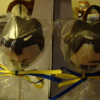 Holy Cake Pop Batman!! Batman Cake Pops.