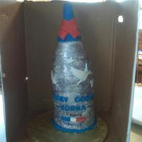 Grey Goose Bottle Cake This is my first attempt at such a cake. The glaze ran a bit, but otherwise i think it came out fairly well considering that it was my...
