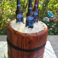 Sugar Beer Bottles/ice Barrel Cake My first time using fondant. Also made the sugar beer bottles and ice. I was quite impressed with myself on my first attempt. I rolled out...
