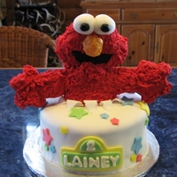Elmo This was my first major cake that I made for a friend's daughter's birthday party. Elmo is made of RKT and covered in royal icing...