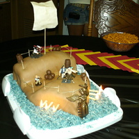 "Drew's Pirate Ship This was my first time using fondant. I had a great time making this cake. I look at it now and think ""I could better"", but it..."