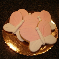 Butterfly Cookies   Shortbread Cookies with Rolled Fondant