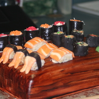 Sushi Cake   Sushi cake ...every thing is edible...and nothing fishy about it!!