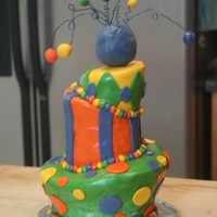 My 1St Topsy Turvy  this is my 1st topsy turvy cake. lost of mistakes, learned alot, over all I think it turned out good. Made for twins and their brother that...