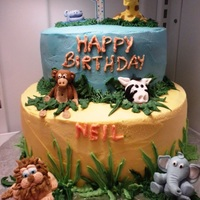 Animal Theme Birthday Cake