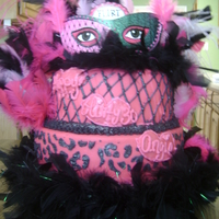 Flirty Thirty This is my first time working with fondant, it is for my cousins 30th birthday she wanted leopard on the botton tier and the top tier to...