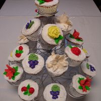 Bridal Bouquet - Cupcake Tree Royal Icing Flowers