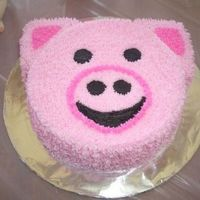 "Camryn's Special ""pig"" Cake   Camryn's Individual Cake"