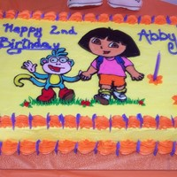 ::dora The Explorer Buttercream Transfer::