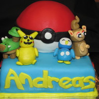 Pokemon Cake Pokemon birthday cake. First time I attempted making figurines/characters out of fondant. Also first time I used gumpaste. I really enjoy...