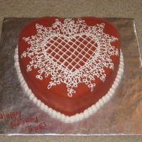 Heart Cake With Sugarveil Lace