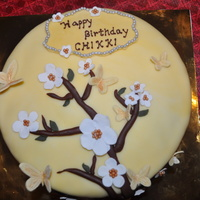 Cherry Blossom Cake based on the cake by CC member md79.Thank you for the beautiful design.