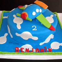 Airplane Cake Birthday boy's mom requested cake to match invites!