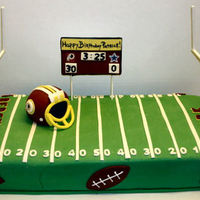 Football Birthday Redskins theme