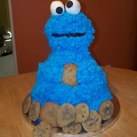 Cookie Monster Cake thanks so much to other CC's namely AmyCakes2 for all the help with this cake! I really love the way it turned out and, although...