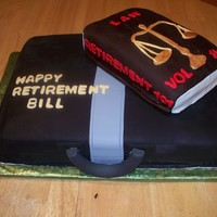 Attorney Retirement Cake this cake was made for an attorney who is retiring. All cake with fondant. TFL
