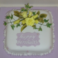 Sugar Flower Birthday Cake This is my first full blown sugar flower display cake for my mother in laws 79th Birthday I am really pleased how it turned out. Everything...