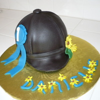 Horse Back Riding Event Helmet Cake English Riding Helmet for a young rider competing in her very first event. I already gave her a 1st place blue ribbon, since she is my...
